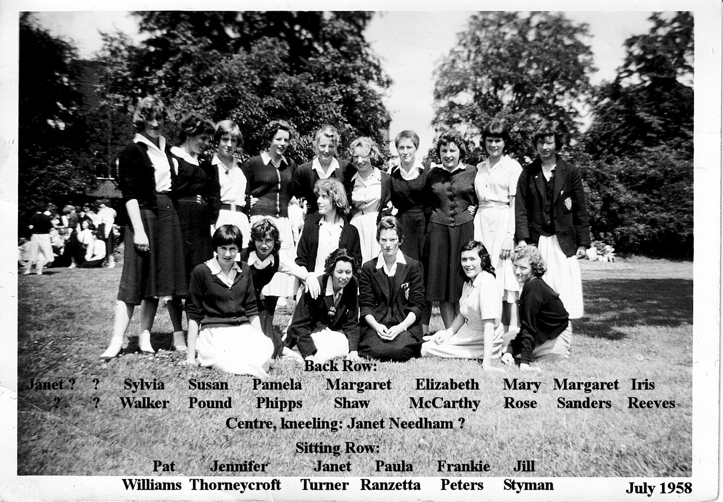 July 1958 leavers